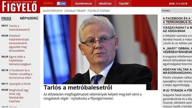 """Ex-Chefberaterin von Orban kauft Zeitung """"Figyelö"""" (Bild: figyelo.hu)"""