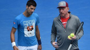 Novak Djokovic & Boris Becker gehen getrennte Wege (Bild: APA/AFP/WILLIAM WEST)