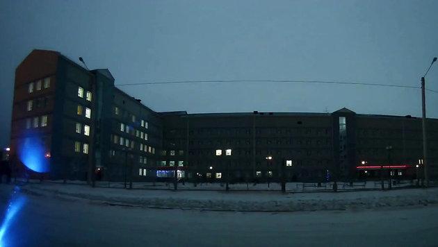 Feuerball erhellt Nachthimmel über Sibirien (Bild: Ruptly.TV)