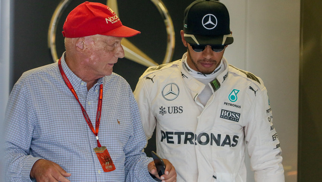"""""""Kein Problem!"""" Lauda spricht Hamilton frei (Bild: GEPA)"""
