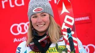 """Ski-Heldin Shiffrin: """"Hatte noch nie ein Date!"""" (Bild: APA/AFP/GETTY IMAGES NORTH AMERICA/DOUG  PENSINGER)"""