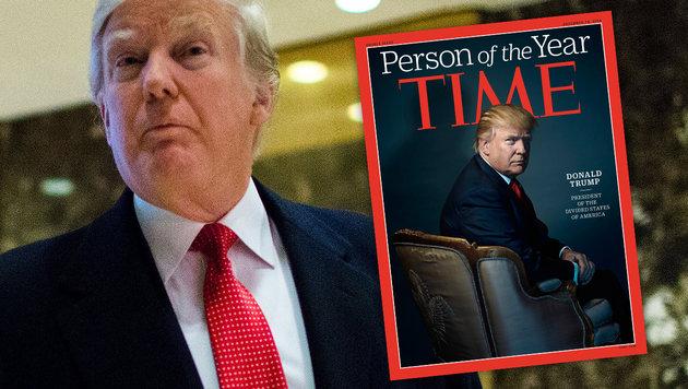 """Time"" kürt Trump zur ""Person des Jahres 2016"" (Bild: APA/AFP/EDUARDO MUNOZ ALVAREZ, APA/AFP/TIME Inc./NADAV KANDER)"