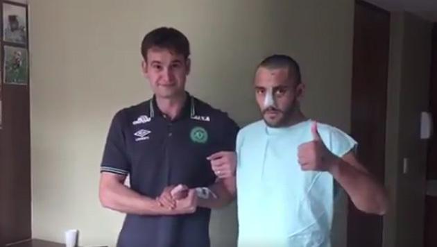 Chapecoense-Profi kämpft sich zurück ins Leben (Bild: twitter.com)