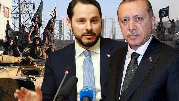Erdogan-Schwiegersohn wollte Öl vom IS kaufen (Bild: AFP/YASIN BULBUL, AP, APA/AFP/ADEM ALTAN)