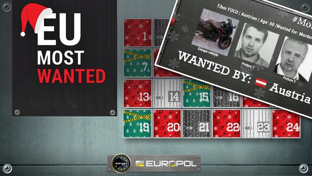 """Geht auch der wegen Mordes gesuchte Österreicher, Tibor Foco, den """"Adventfahndern"""" bald ins Netz? (Bild: Europol)"""