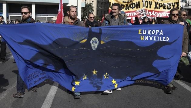Proteste in Athen (Bild: AP)
