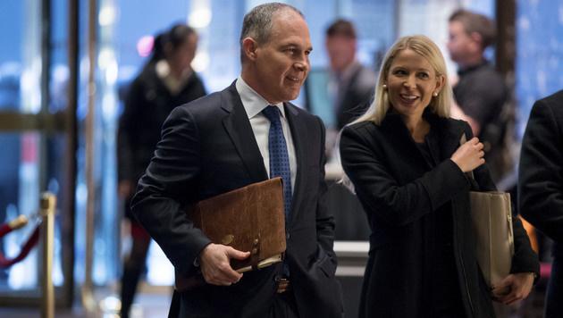 Scott Pruitt, Freund der Öl- und Kohlelobby, wird Chef der Umweltbehörde (Bild: AP)