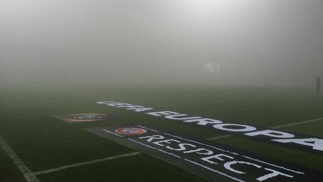 Sassuolo - Genk wegen Nebels auf Freitag verlegt (Bild: twitter.com)