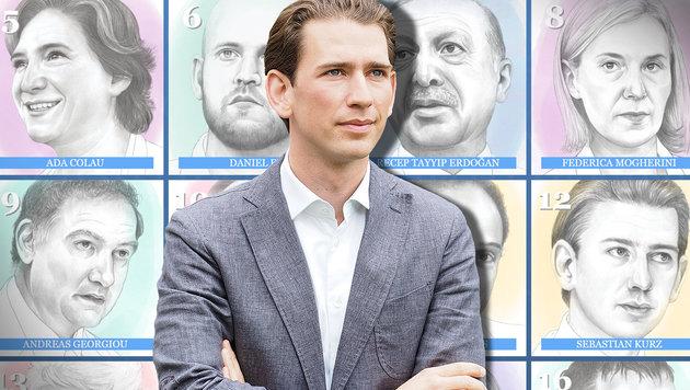 "Das Magazin ""Politico"" zählt Sebastian Kurz zu den ""Gestaltern Europas"". (Bild: APA/Gabriele Moser, politico.eu)"