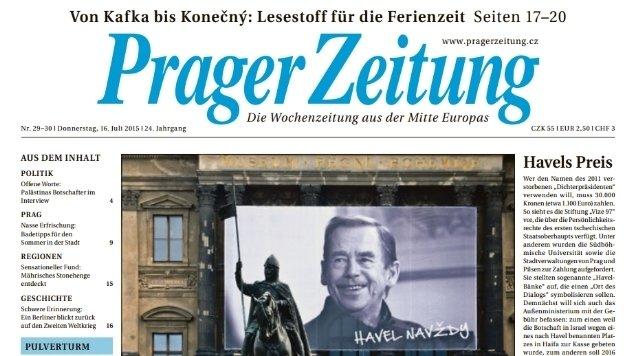 """""""Prager Zeitung"""" (Bild: pragerzeitung.cz)"""