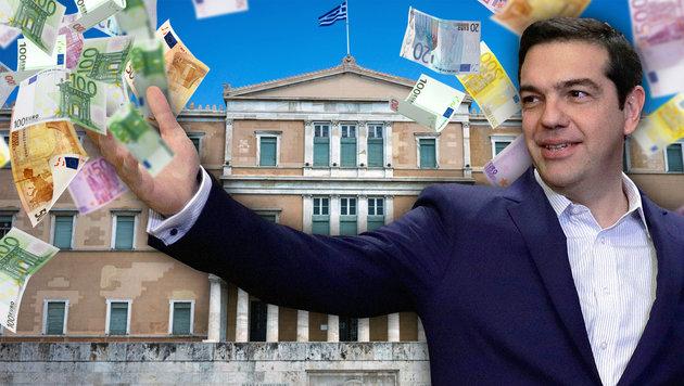 Ministerpräsident Alexis Tsipras ist am Ende seines Lateins, wird als Volksverräter beschimpft. (Bild: AFP/ANGELOS TZORTZINIS, AP/Thanassis Stavrakis, thinkstockphotos)
