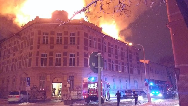 Slowakei: Universität von Kosice in Flammen (Bild: twitter.com/AuthenticKosice)
