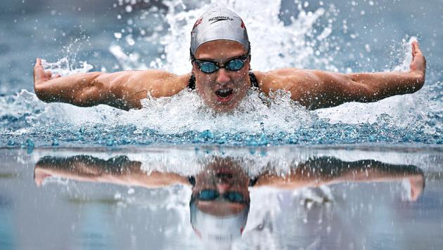Stark! Lena Kreundl im Finale über 100 m Lagen (Bild: GEPA)