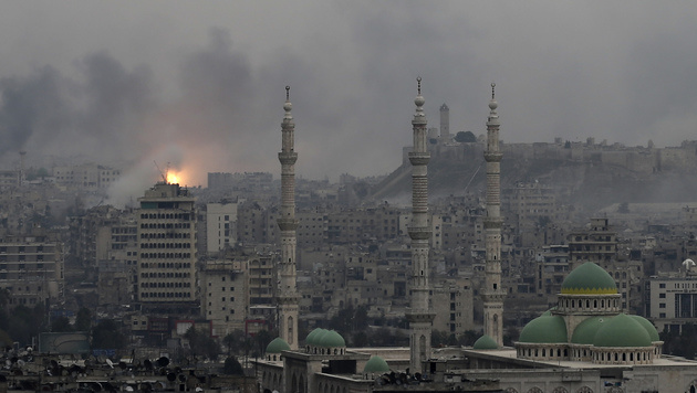 Explosion in Aleppo (Bild: AP)