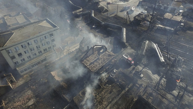 Inferno in Bulgarien: Sieben Tote bei Explosionen (Bild: ASSOCIATED PRESS)