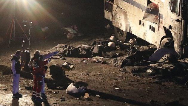 Erdogan schwört Rache für Anschläge in Istanbul (Bild: EPA)