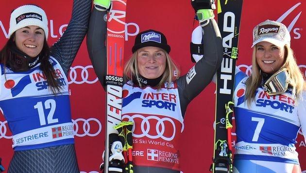 Worley gewann auch RTL in Sestriere, Brunner Achte (Bild: APA/AFP/GIUSEPPE CACACE)