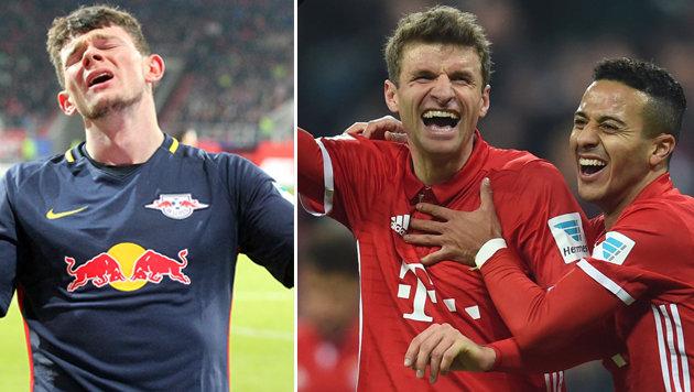 Erste Pleite für RB Leipzig, Bayern mit Kantersieg (Bild: APA/AFP/CHRISTOF STACHE, GEPA)