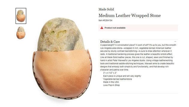 Ein in Leder eingewickelter Stein - offenbar der Hit in diesem Weihnachtsgeschäft. (Bild: nordstrom.com)