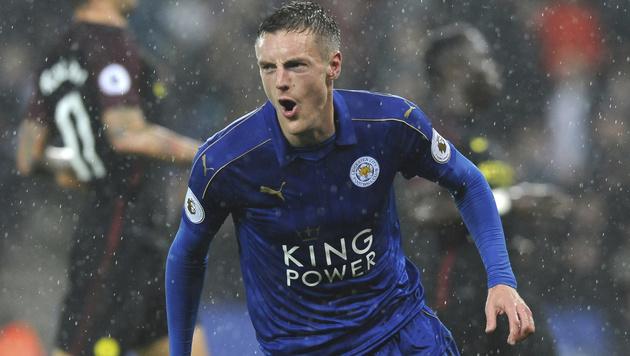 Leicesters Vardy schießt Manchester City ab! (Bild: AP)