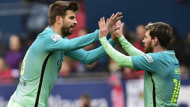 Messi und Suarez schießen Barca zu Pflichtsieg (Bild: AP)