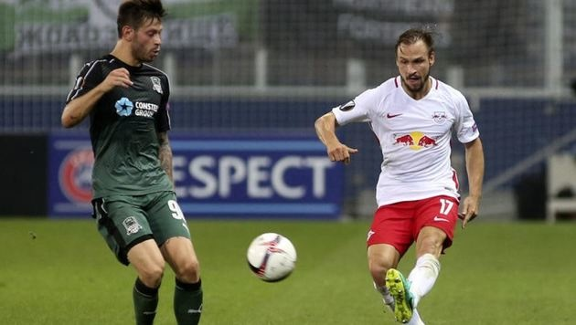 Ulmer (re.) erhielt gegen Schalke eine Pause, ist heute wieder dabei. (Bild: Andreas Tröster)