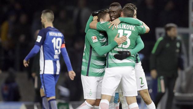 Werder Bremen fügt Hertha erste Heimniederlage zu (Bild: AP)