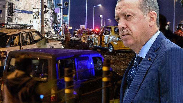 Nach Anschlägen: Erdogan startet Rachefeldzug (Bild: AFP/OZAN KOSE, APA/lik Keplicz)