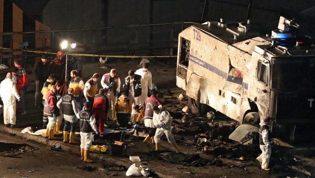 Der Doppelanschlag in Istanbul forderte 44 Todesopfer. (Bild: EPA)