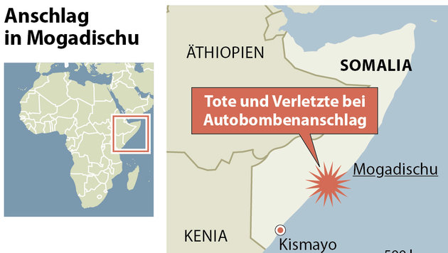 Somalia: Mindestens 30 Tote bei IS-Terroranschlag (Bild: APA)