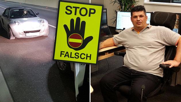 Asfinag-Mitarbeiter stoppt Alko-Geisterfahrerin (Bild: Asfinag/Alexander Kriegel, APA/HERBERT PFARRHOFER)