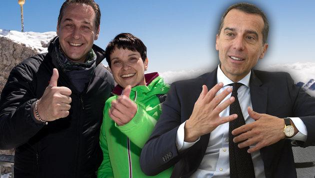 Kern warnt vor Ausgrenzung von FPÖ und AfD (Bild: dpa/Sven Hoppe, APA/HARALD SCHNEIDER)