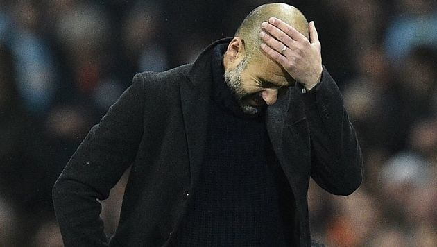 "Pep Guardiola: Vom Messias zum ""Chaos-Coach"" (Bild: AFP)"