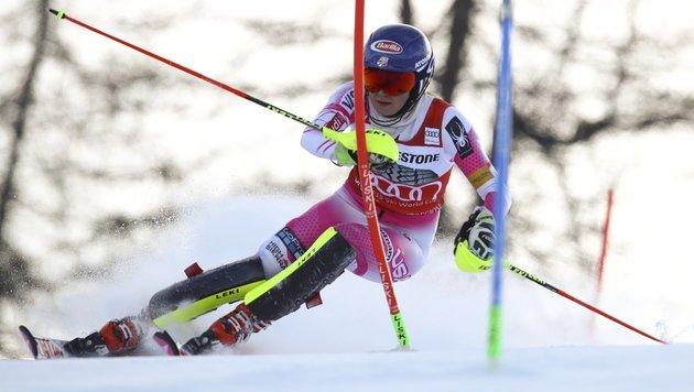 Zweimal Bestzeit! Shiffrin bleibt Slalom-Königin (Bild: AP)