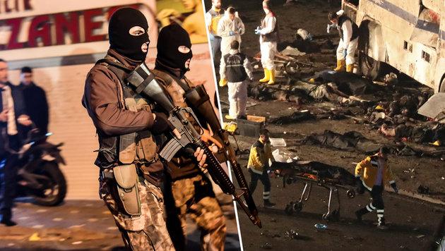 Erdogan: Türken sollen Terrorverdächtige melden (Bild: EPA/TOLGA BOZOGLU, AFP/YASIN AKGUL)