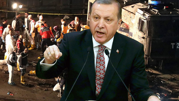 Nach Anschlägen: Erdogan startet Rachefeldzug (Bild: EPA/TOLGA BOZOGLU, AFP/ADEM ALTAN)