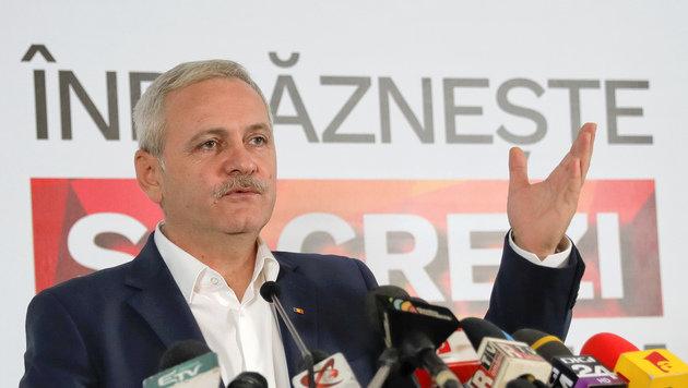 Der Vorsitzende der demokratischen Partei, Liviu Dragnea (Bild: ASSOCIATED PRESS)