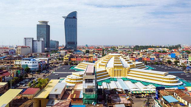 Kambodschas Hauptstadt Phnom Penh (Bild: thinkstockphotos.de)