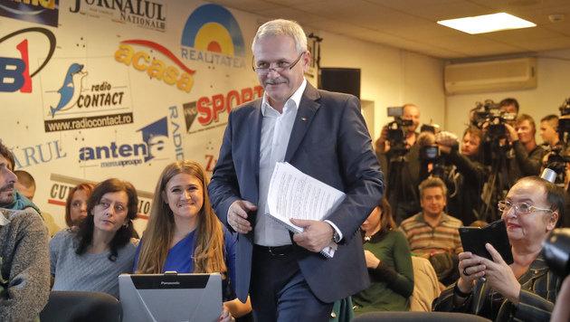 Der Sieger der Parlamentswahl in Rumänien: PSD-Chef Liviu Dragnea (Bild: ASSOCIATED PRESS)