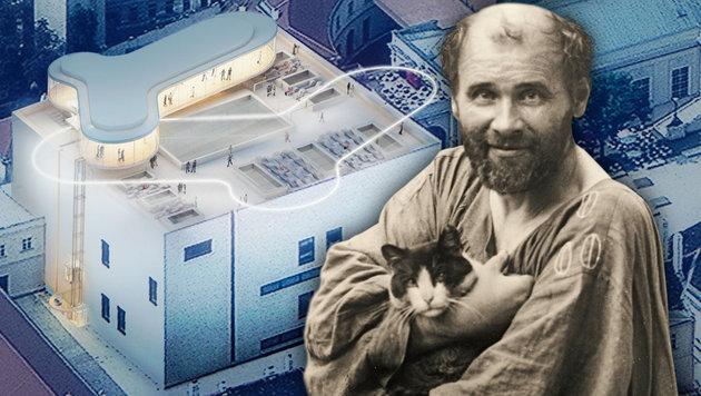 """Wien: Toter Klimt bremst den Bau von """"MQ Spatzi"""" (Bild: A2Studio, Künstlerhaus_Leopold Museum_Wien Museum)"""