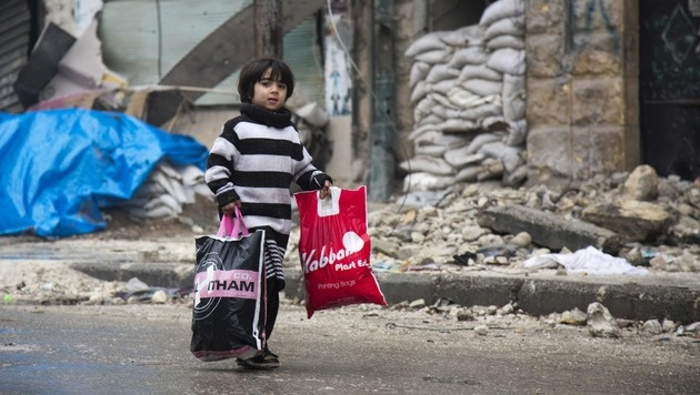 Syrien - das sind wir alle! (Bild: APA/AFP/KARAM AL-MASRI)