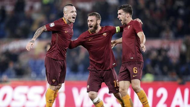 AS Roma gewinnt Schlager gegen AC Milan mit 1:0 (Bild: AP)