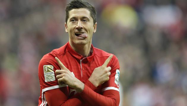 Bayern verlängert mit Lewandowski bis 2021 (Bild: AP)