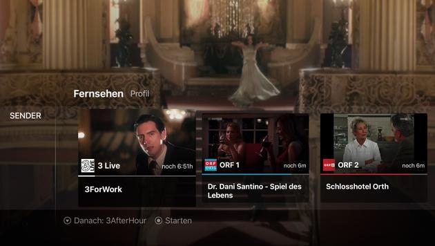 """""""3TV:"""" Drei startet Kabelfernsehen übers Internet (Bild: Drei)"""