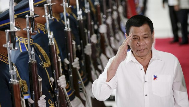 Der philippinische Präsident Rodrigo Duterte (Bild: EPA)