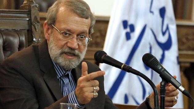 Irans Parlamentspräsident Larijani (Bild: APA/AFP/ATTA KENARE)
