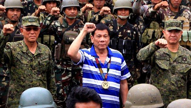 "Duterte prahlt: ""Habe selbst Kriminelle getötet"" (Bild: AFP)"