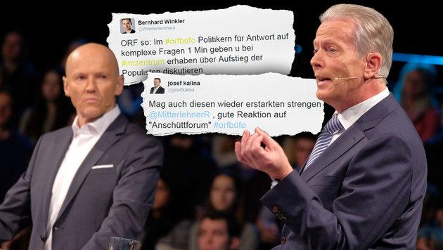 """Anschüttforum"" sorgt für heftige Kritik am ORF (Bild: ORF/Hans Leitner, twitter.com)"