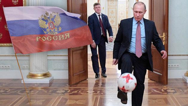 Doping: Verliert Russland gar die Fußball-WM? (Bild: APA/AFP/GETTY IMAGES/Tom Szczerbowski, AP)