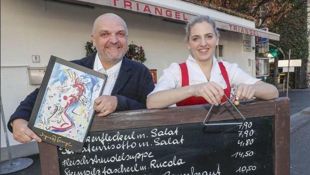 Franz Gensbichler führt mit Tochter Franziska die Triangel-Geschicke. (Bild: Markus Tschepp)